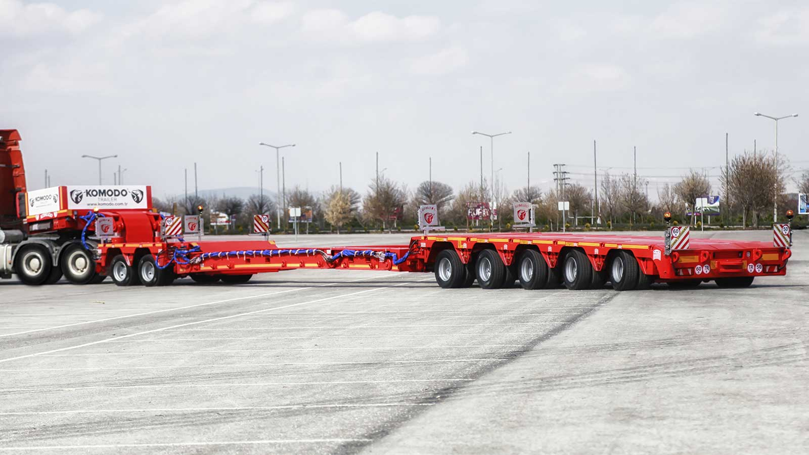 5+2 AXLE MODULAR CHASSIS – DLS SYSTEM LOWBED SEMI TRAILER